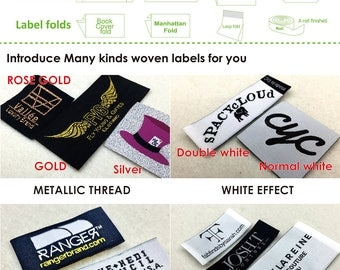 100-1000 pcs Custom adhesive clothing labels, adhesive clothing label, adhesive fabric label