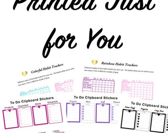 Preprinted Printable Add-on | Stickers | Planner Printable | Happy Planner Sticker | Printed | Pre-printed