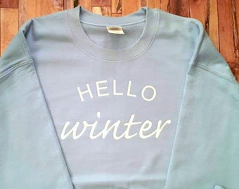 Hello Winter - Adult Sweatshirt