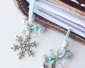 Winter Wonderland Bookmark, Travelers Notebook Bookmark, Travelers Notebook Charm, TN Charms, Travelers Notebook Accessories, TN Accessories