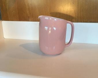 Heath Ceramics Pitcher in Rose Pink Made in Sausalito California