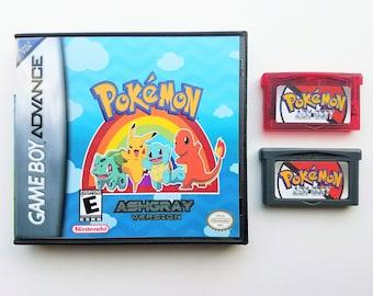 Pokemon Ash Gray w/ Case - Nintendo Game Boy Advance GBA & DS Lite -(English Fan Made) Ash Grey Version