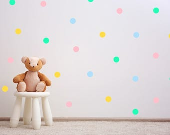 Pastel Polka Dots Wall Decal   Wall Sticker Pattern   Nursery Kids Baby  Room Wall Decal Part 88