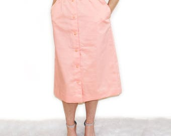 Parcours by Tan Jay 90s does the 40s Vintage Skirt in Peach UK6 waist 26'' XSmall