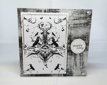 Gothic/Tattoo/Grunge Birthday Card - Male/Female - luxury personalised unique quality special vampire fantasy UK - son/daughter/brother