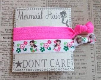 Mermaid Elastic Hair Ties, mermaid party favors, cute hair ties, party favors, hair tie favors