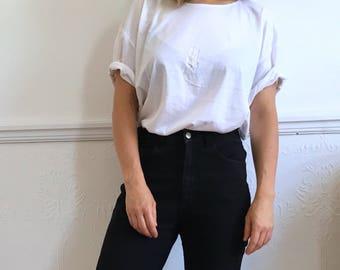 Vintage white t shirt. Women's size XL. Late 80's era.