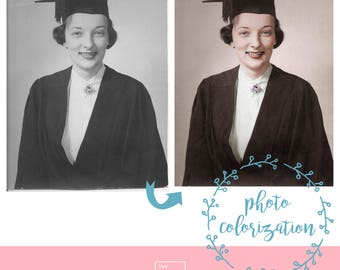 PHOTO COLORIZATION. Colorizing photo, add color to vintage photography