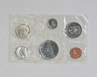 1968 Canada Uncirculated 6 Coin Set in Original Royal Canadian Mint Packaging