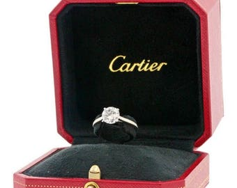 Cartier 1895 Solitaire Engagement Ring - Platinum & Diamond VVS2 H Color 1.37 Carats - Save 30% on this stunning and timeless ring!