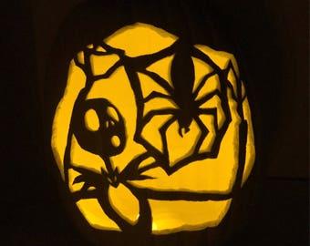 Jack's Paper Spider Jack-O-Lantern