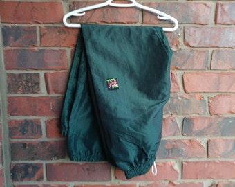 Vintage Surf Style Pants 1990s Surf Green Track Pants