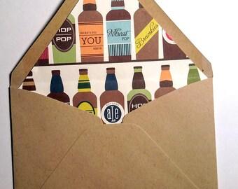 Beer Lined Envelopes