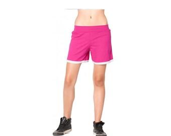Magenta pantalon court, pantalon Maxi, pantalons Oversized, pantalon Sport, pantalons femmes, pantalons femmes courtes, un pantalon court femmes