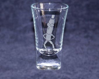 Mr Poopy Butthole etched SHOT GLASS - Rick and Morty - Custom shot glasses for him her girlfriend boyfriend - gift - Novelty present