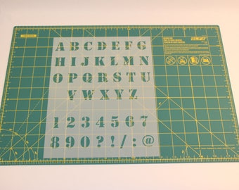 Letter and Number Stencils - Reusable Numbers and Letters Stencil Templates with 9 Fonts Available