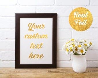 Custom Foil Print