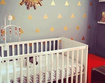 100 Gold Triangle Wall Decals