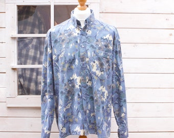 Vintage Abstract Design Long Sleeved Shirt Size - Extra Large
