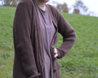 Vintage 90s Brown St. Johns Bay Button Down Cardigan Sweater