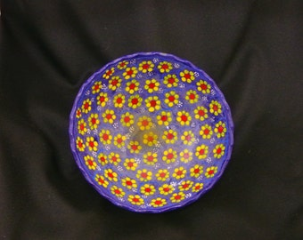 Mexican Pottery Glazed Bowl with Feet