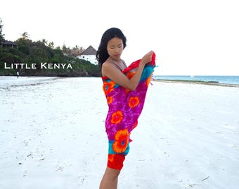 African Beach Sarong - Beach Blanket - Beach dresses - Pareo - Beach Towel - Coverups - Tribal Clothing - Headwraps - Scarf