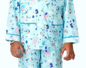 Kids Cotton Handmade Nightwear & Loungewear Nursery Print Suit