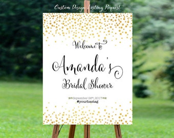 Wedding shower signs, bridal shower banner, bridal shower decorations, bridal shower welcome sign, bridal shower - US_BS0201