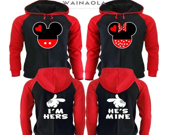 Iu0027M HERS HEu0027S MINE Matching Raglan Hoodies, Matching Couple Clothes, Gifts  For