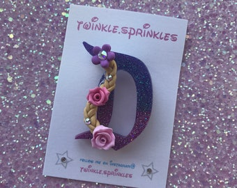 Rapunzel tangled inspired brooch / necklace