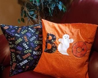 Applique Holloween Pillow Cover