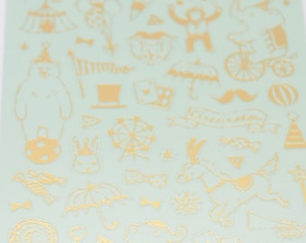 Mind Wave Gold Foil Stickers Series - Circus