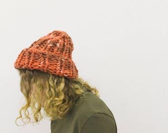 Chunky Hat Milo [red] - Merino Wool - Bulky Knit Hat - Helsinki Hat - Merino Wool Hat - Merino Wool Beanie - Acrylic
