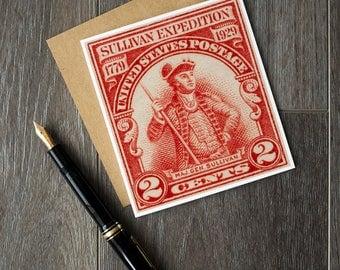 US history greeting card, US revolutionary war, major general sullivan expedition, US war of independence, general sullivan, teacher cards