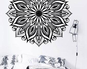 Full Mandala H9 - Home or Office Wall Mandala - BLACK Vinyl Decal