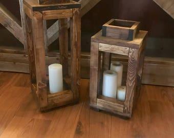 Rustic lanterns | Etsy