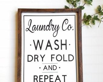 Laundry Co Sign, Laundry room decor, laundry room sign, farmhouse laundry room, farmhouse decor, rustic decor, laundry sign, laundry decor