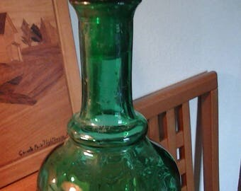 Green/Teal Glass Decanter