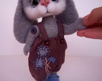 Felted Bunny needle wool toys