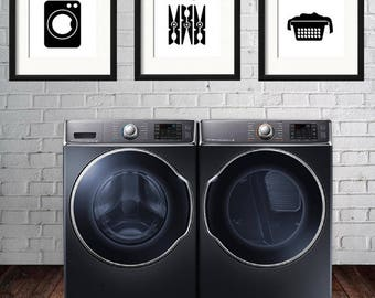 Laundry Room Decor, Laundry Room Print, Laundry Art, Wash Print, Dry Print, Fold Print