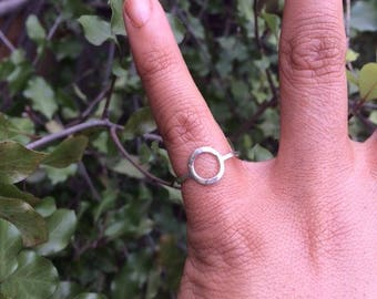 Sterling Silver Circle Ring / Sterling Silver Ring / Silver Geometry Ring / Silver Round Ring  / Silver Stack Ring / Silver O Ring