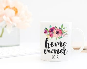 New Home Owner Gift | Housewarming Gift | Closing Gifts | Gift for Friends | Home Owner Mug | Wedding Gift Idea | Our First Home 2018