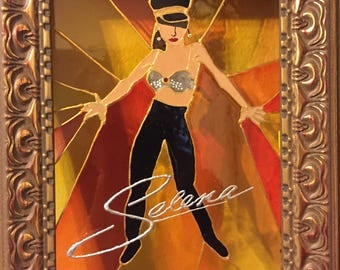 Selena Faux Stained Glass 6x8