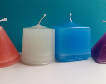Set of handmade scented candles