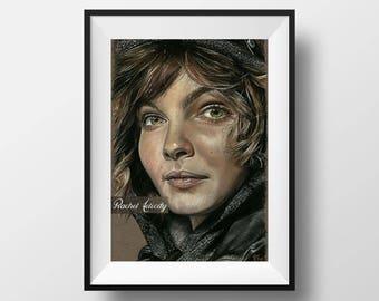 Selina Kyle, Catwoman (Camren Bicondova) from Gotham TV Series - Original Drawing ART PRINT