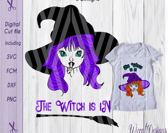 Witch svg, Wicked svg, Halloween svg, Witch hat svg, svg files, dxf halloween, scanncut, die cut halloween, iron on, vinyl cut file
