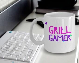 """Gamer Girl Mug """"Gamer Coffee Mug For Girls"""" Grill Gamer Gift Idea For a Wife, Girlfriend or Sister Gamer"""