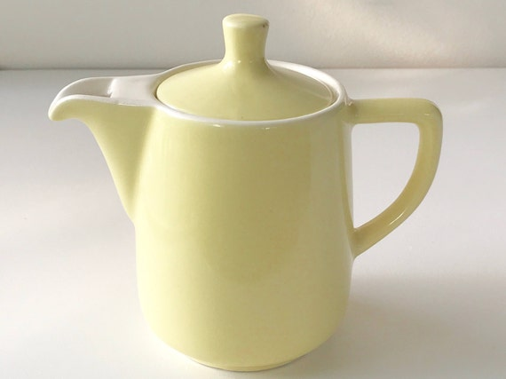 vintage melitta coffee pot yellow mid century coffee pot vintage teapot melitta coffee pour over coffee mid century kitchen