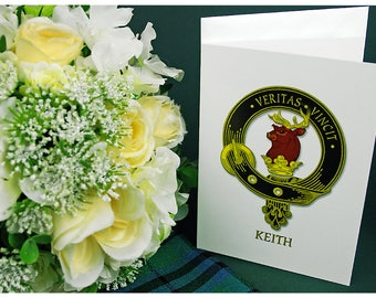 Greeting Cards Clan & Crest - Keith