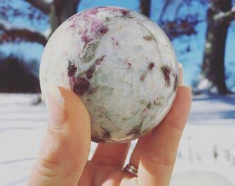 Pink Tourmaline {Rubellite} Sphere.